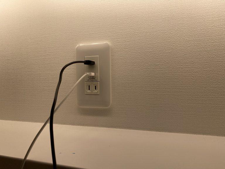イメージ図/USBコンセントに変えてみた